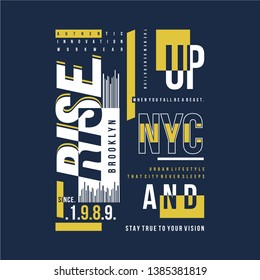 urban street line and abstract graphic design t shirt typography vector illustration for ready print