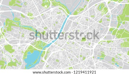 Urban Vector City Map Angers France Stock Vector Royalty Free