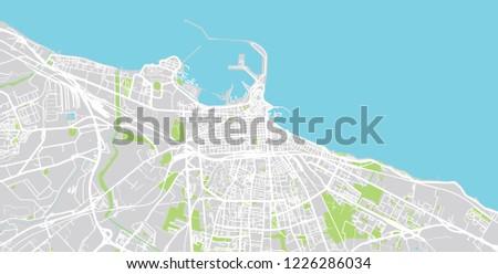 Urban Vector City Map Bari Italy Stock Vector Royalty Free