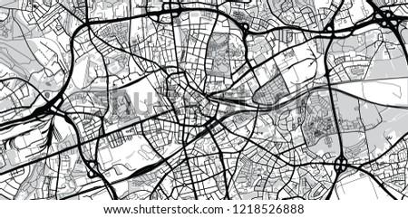 Urban Vector City Map Bochum Germany Stock Vector Royalty Free