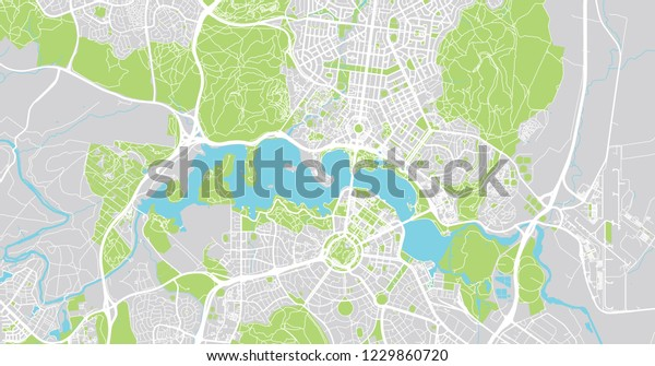 Map Canberra Australia.Urban Vector City Map Canberra Australia Stock Vector Royalty Free