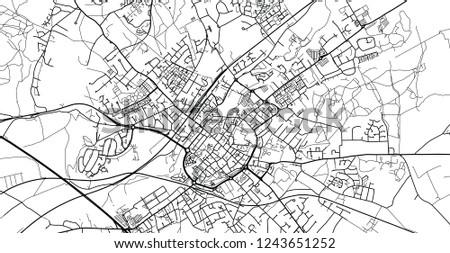 Urban Vector City Map Canterbury England Stock Vector Royalty Free