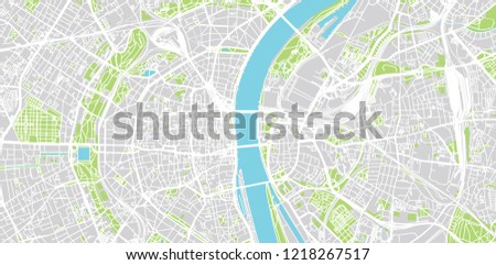 Urban Vector City Map Cologne Germany Stock Vector Royalty Free