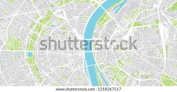 Urban Vector City Map Cologne Germany Stock Vector (Royalty ...