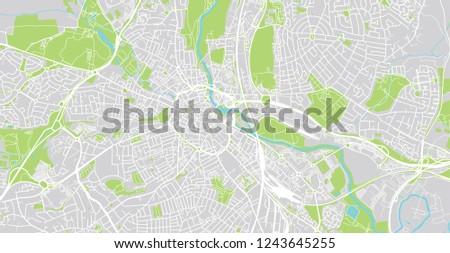 Urban Vector City Map Derby England Stock Vector Royalty Free