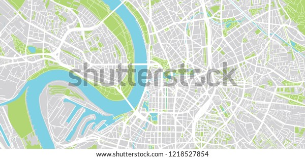 Map Of Germany Showing Dusseldorf.Urban Vector City Map Dusseldorf Germany Stock Vector Royalty Free