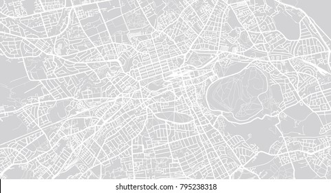 Urban vector city map of Edinburgh, Scotland