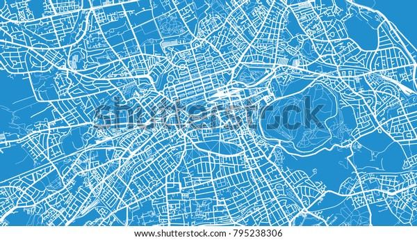 Map Edinburgh.Urban Vector City Map Edinburgh Scotland Stock Vector Royalty Free
