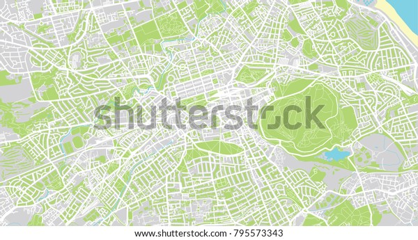 Urban Vector City Map Edinburgh Scotland   Royalty-Free ...