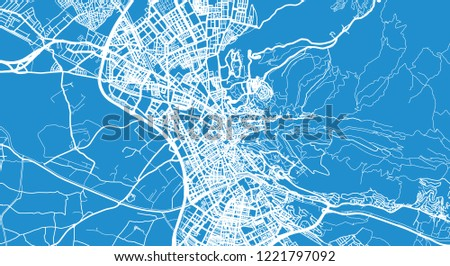 Urban Vector City Map Granada Spain Stock-Vrgrafik (Lizenzfrei ... on