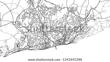 Map Of England Hastings.Urban Vector City Map Hastings England Stock Vector Royalty Free
