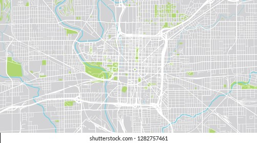 Map City Indianapolis Images Stock Photos Vectors Shutterstock - Indianapolis-in-us-map
