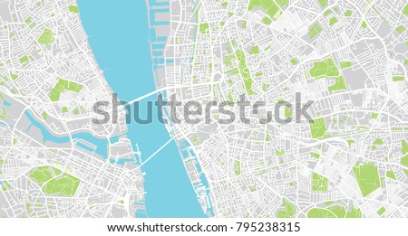 Liverpool Map Of England.Urban Vector City Map Liverpool England Stock Vector Royalty Free