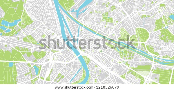 Map Of Germany Mannheim.Urban Vector City Map Mannheim Germany Stock Vector Royalty Free