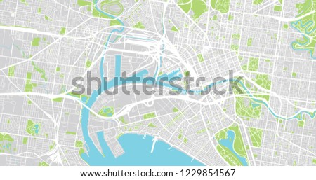 Melbourne Australia City Map.Urban Vector City Map Melbourne Australia Stock Vector Royalty Free