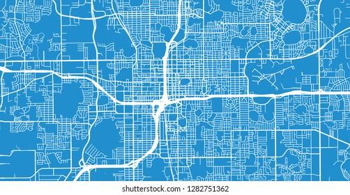 Map Of Orlando Florida.Florida Aerial Orlando Stock Illustrations Images Vectors