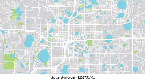 Map Of Orlando Florida.Orlando Area Stock Vectors Images Vector Art Shutterstock