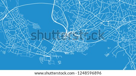 Poole England Map.Urban Vector City Map Poole England Stock Vector Royalty Free