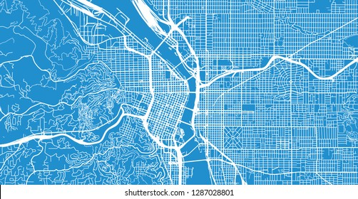 Portland City Map Stock Illustrations, Images & Vectors ...