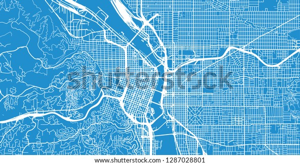 portland oregon city map Urban Vector City Map Portland Oregon Stock Vector Royalty Free portland oregon city map