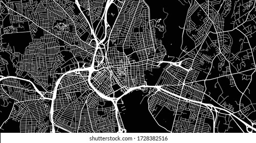 Urban vector city map of Province, USA. Rhode Island state capital