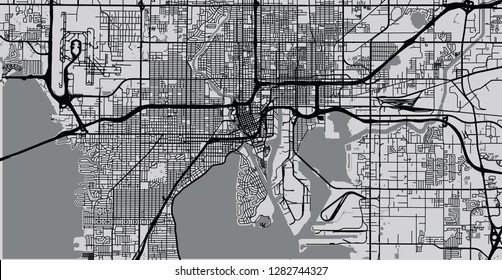 City Map Tampa Images, Stock Photos & Vectors | Shutterstock City Map Of Tampa Florida on