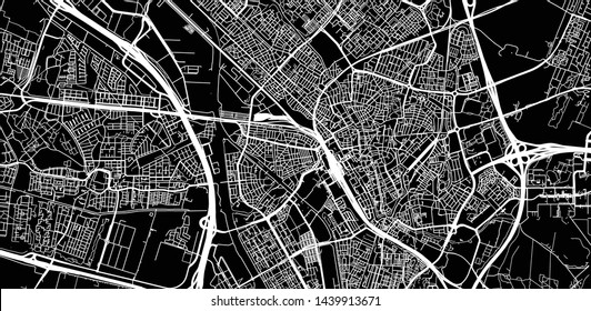 Urban vector city map of Utrecht, The Netherlands