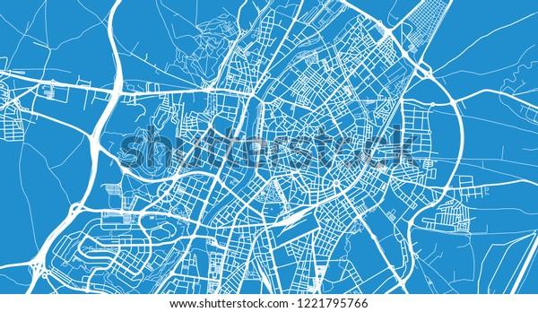 Map Of Spain Valladolid.Urban Vector City Map Valladolid Spain Stock Vector Royalty Free