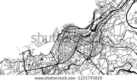 Urban Vector City Map Vigo Spain Stock Vector Royalty Free