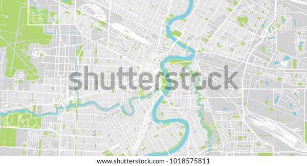 City Map Of Canada.Urban Vector City Map Winnipeg Canada Stock Vector Royalty Free