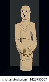Urfa, Turkey. The oldest statue in the world. Urfa man statue. Neolithic