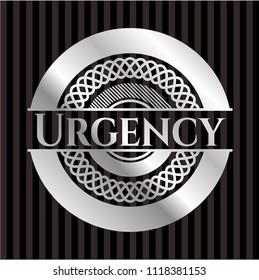 Urgency silvery emblem