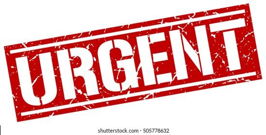 urgent. grunge vintage urgent square stamp. urgent stamp.