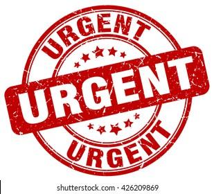 urgent. stamp