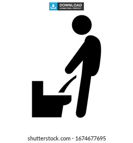 urinating icon or logo isolated sign symbol vector illustration - high quality black style vector icons