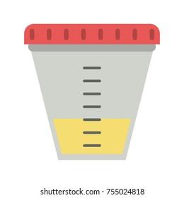 Urine test container icon vector illustration graphic design