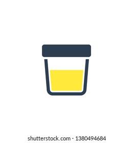 urine test icon, vector