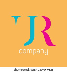 URR company logo design. Monogram letters U and R.