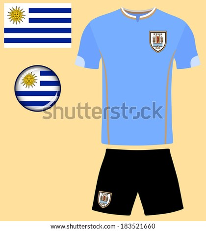 d06d2c0304f Uruguay Football Jersey. Abstract vector image of the Uruguayan football  team kit, along with