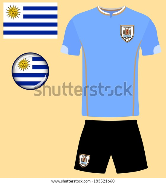 brand new 6fee2 32351 Uruguay Football Jersey Abstract Vector Image Stock Vector ...