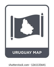 uruguay map icon vector on white background, uruguay map trendy filled icons from Countrymaps collection, uruguay map simple element illustration
