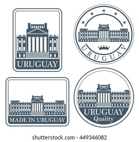 Uruguay. Rubber and stamp