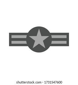 US air force roundel. Military symbol. Vector Illustration
