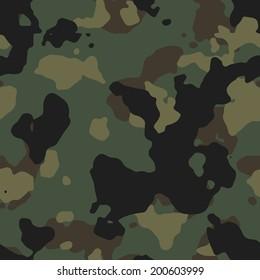 US Army woodland camo texture vector