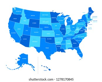 Map Of The Us States With Names.Us State Map Images Stock Photos Vectors Shutterstock
