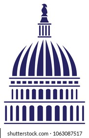 U.S. Capitol Dome Vector Illustration