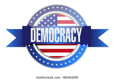 us democracy seal illustration design graphic over white