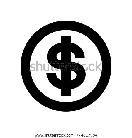 Us Dollar Symbol American Dollar Currency Stock Vector Royalty Free