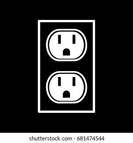 U.S. electric household outlet vector