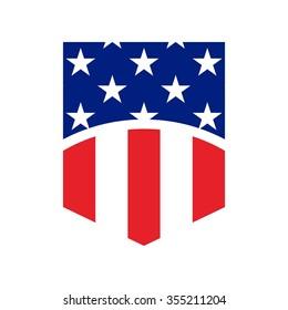 US flag symbol. logo vector.